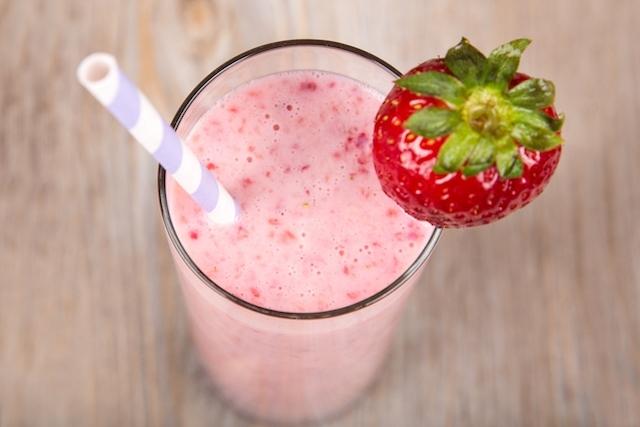 shake para emagrecer de morango