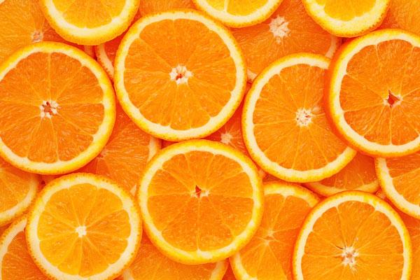 laranjas para o inchaço