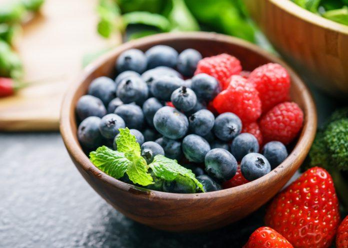 taça de frutos vermelhos