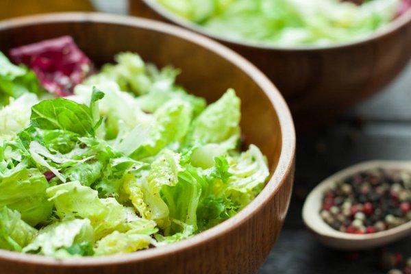 Salada no almoço