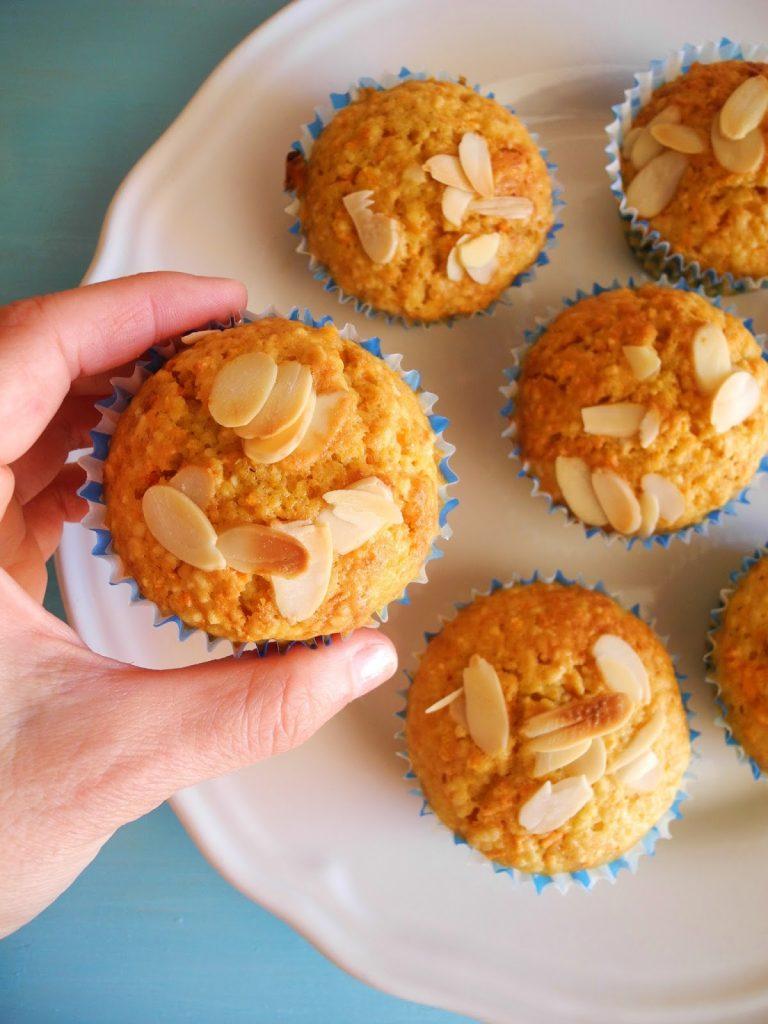 Muffins com farinha de amêndoa