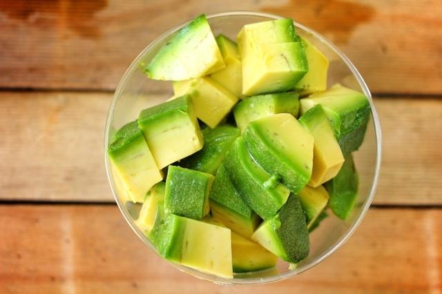 Pedaços de abacate